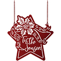 """Poinsettia Star"" Metal Garden Flag"