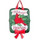 """Holly Berry Cardinal"" Door Hanger"