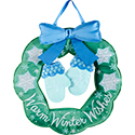 """Warm Winter Wishes"" Door Hanger"