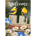 """Bluebell Goldfinches"" Dura Soft™ Flag"