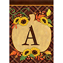 """A"" Pumpkin Monogram Dura Soft™ Flag"