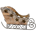 Sleigh with Gold Glitter
