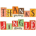 """Jingle Bells"" and ""Thanksgiving"" Reversible Table Décor"