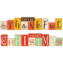 """Merry Christmas"" and ""Let's Be Thankful"" Reversible Table Décor"