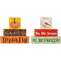 """Always Be Thankful"" and ""Tis The Season"" Reversible Table Décor"