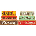 """Grateful"" and Believe"" Reversible Table Décor"