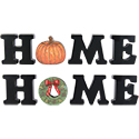 5 Piece Home with Pumpkin and Wreath Set