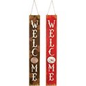 """Welcome"" Snowman and Pumpkin Reversible Wall Décor"