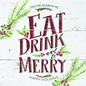 """Eat Drink And Be Merry"" Trivet"