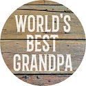 """Grandpa"" Round Car Coaster - Bulk"