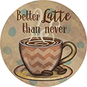 """Latte"" Round Car Coaster - Bulk"