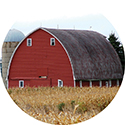 """Barn"" Round Car Coaster - Bulk"